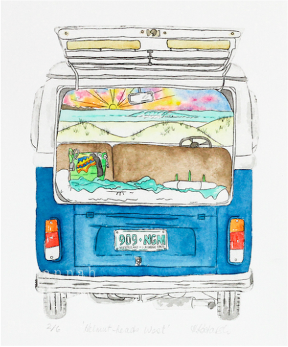 Surf Art Commission - VW camper van