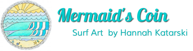 Mermaid's Coin Surf Art Australia