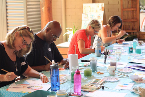 perth art class - adult watercolour